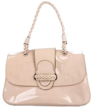 Valentino Patent Leather Braided Satchel