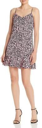 Aqua Leopard-Print Mini Dress - 100% Exclusive
