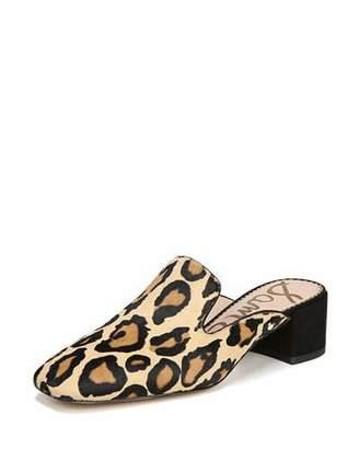 Sam Edelman Adair Leopard-Print Block-Heel Mule