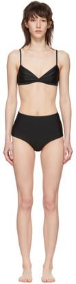 Matteau Black Tri Crop Top High Waist Bikini