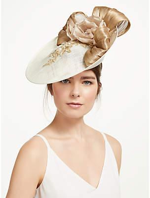 e8bbc7115430d Celine Vixen Millinery Floral Lace and Loop Disc Occasion Hat