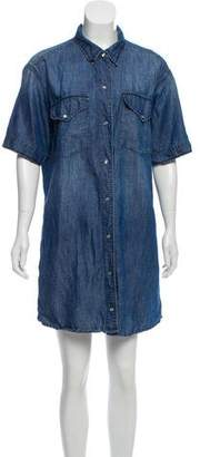 Etoile Isabel Marant Short Sleeve Denim Shirtdress