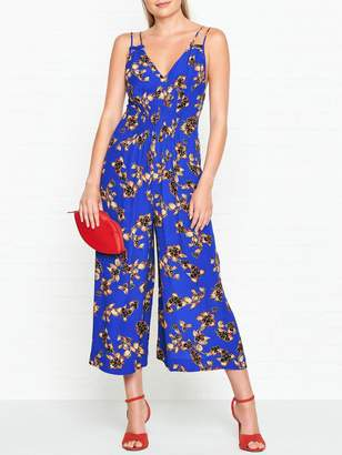 e57c6d4681 at Very Exclusive · Whistles Armelle Capri Print Jumpsuit - Blue
