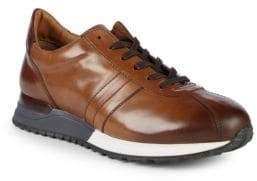 Bruno Magli Leather Platform Sneakers