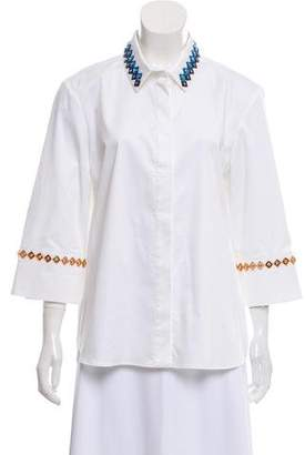 Mary Katrantzou Embellished Button-Up Top