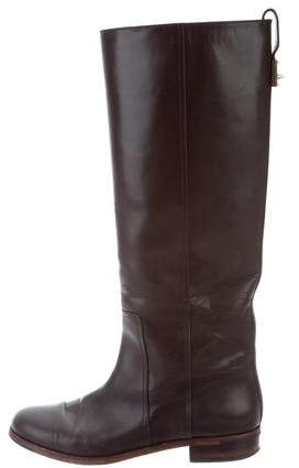 Fendi Knee-High Leather Boots
