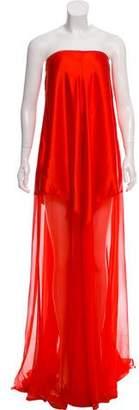 Kaufman Franco KAUFMANFRANCO Strapless Evening Dress