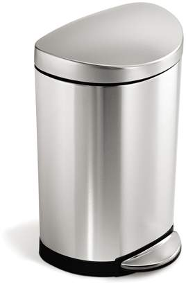 Simplehuman 10L Semi-Round Step Trash Can Stainless Steel