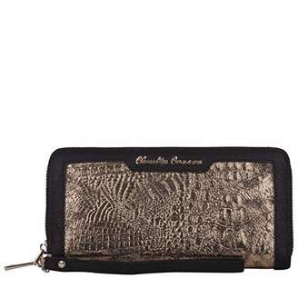 At Co Uk Claudia Canova Womens Large Zip Round Snake Print Purse Clutch