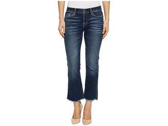 7 For All Mankind Cropped Boot w/ Frayed Hem in Midnight Desert Women's Jeans