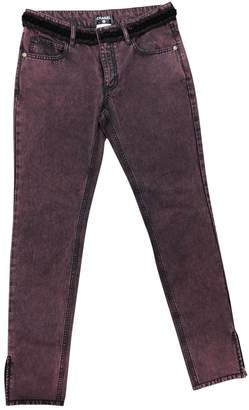 Chanel Burgundy Cotton Jeans