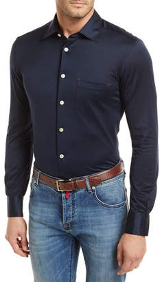 Kiton Knit Long-Sleeve Sport Shirt