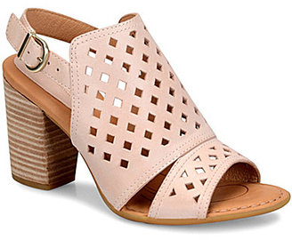Born Havana Geometric Cutout Leather Slingback Block Heel Sandals $120 thestylecure.com