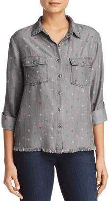 6e6f0556266 Billy T Heart Print Button-Down Chambray Shirt