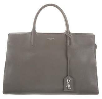 Saint Laurent Medium Cabas Rive Gauche Satchel Grey Medium Cabas Rive Gauche Satchel