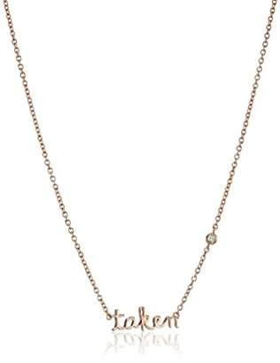 """Shy by SE""""Taken"""" Necklace with Diamond Bezel"""