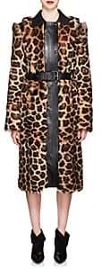 Givenchy Women's Leopard-Print Shearling Long Coat