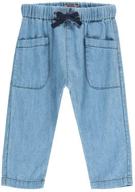 Emile et Ida Chambray Harem Trousers with Pockets