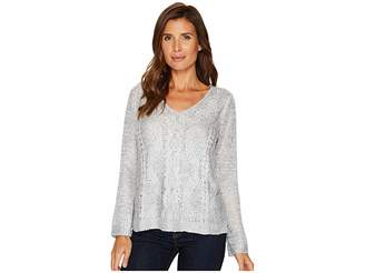 Nic+Zoe Cable Wave Top Women's Sweater