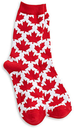 CANADIAN OLYMPIC TEAM COLLECTION Maple Leaf Crew Socks