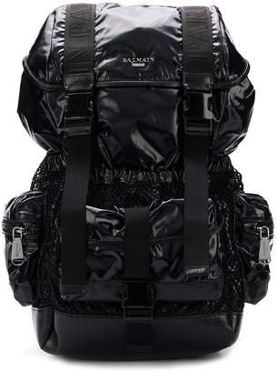 Balmain utility pocket backpack