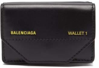 Balenciaga Etui Mini Logo Embellished Wallet - Womens - Black Yellow