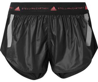 adidas by Stella McCartney Run Az Mesh-paneled Climalite Shorts - Black