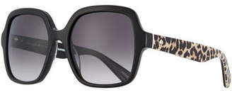 Kate Spade Katelee Square Leopard-Arms Sunglasses