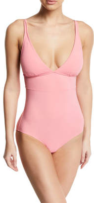 Gottex Au Natural V-Neck Adjustable Strap One-Piece Swimsuit