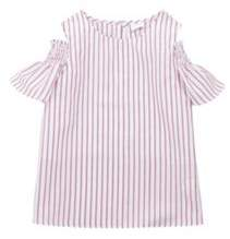 F&F Striped Cold Shoulder Top 12-13 years