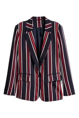 H&M Jacket - Dark blue/striped - Women