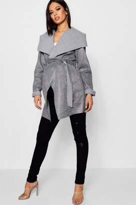 boohoo Maternity Waterfall Wrap Jacket