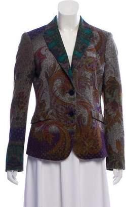 Etro Wool Blend Patterned Blazer
