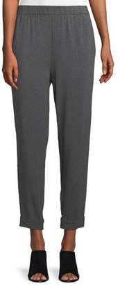 Eileen Fisher Slouchy Cropped Tencel Jersey Pants, Plus Size