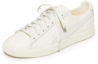 PUMA Clyde Natural Sneakers $95 thestylecure.com
