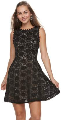 0feb3cce618 at Kohl s · Juniors  Lily Rose Scallop Trim Lace Skater Dress