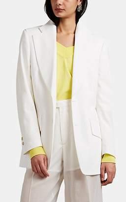 Maison Margiela Women's Polished Twill Two-Button Blazer - White