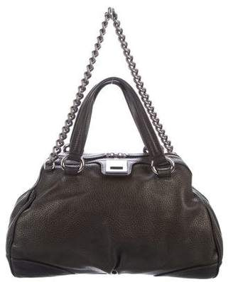 Celine Pebbled Leather Satchel