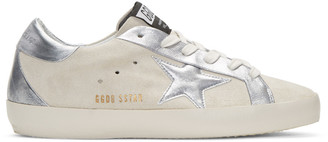 Golden Goose White Suede Bespoke Superstar Sneakers $550 thestylecure.com