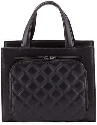Jagger Kc Camilla Quilted-Front Leather Top-Handle Bag