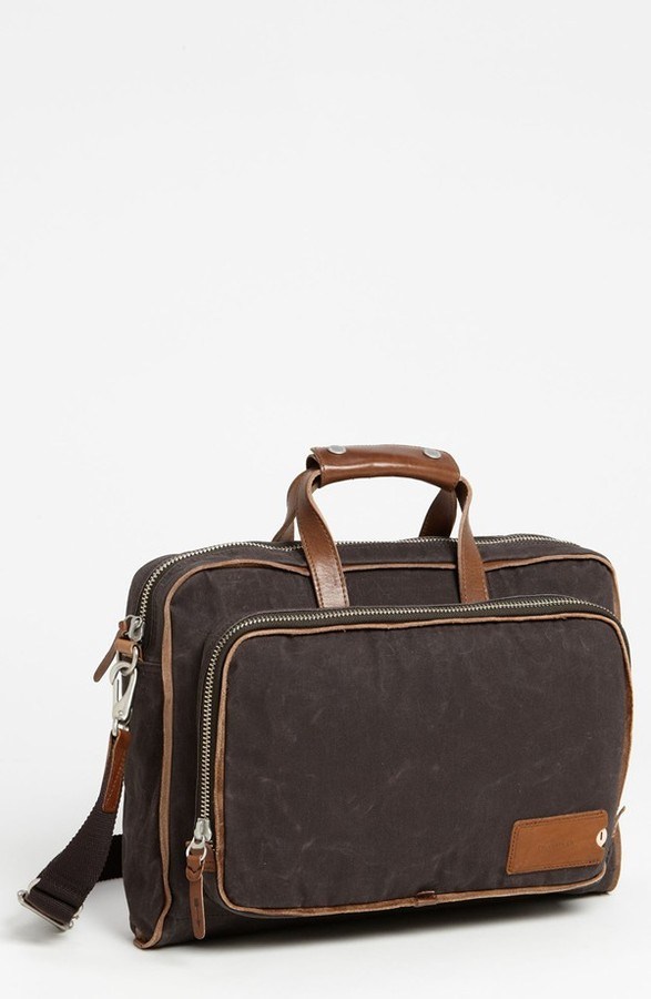 Property Of Property Of? 'Arnald' Canvas Briefcase