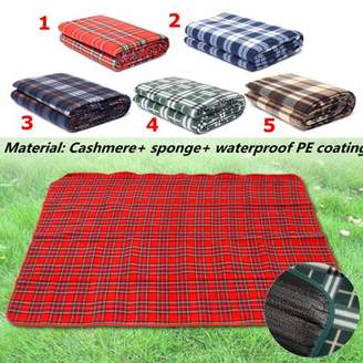 "Kadell Outdoor Picnic Blanket Machine Washable, Extra Large 59""x51 Soft Plush Fleece Waterproof Picnic Mat Ground Cover - Multipurpose Outdoor/Indoor Blanket for Camping, Hiking"