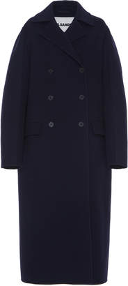 Jil Sander Lucien Floor-Length Wool-Blend Coat