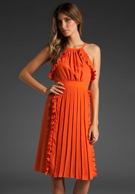 Tibi Classic Cami Ruffle Dress