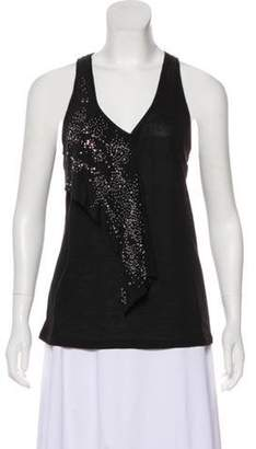 Balenciaga Silk-Accented Sleeveless Top Black Silk-Accented Sleeveless Top