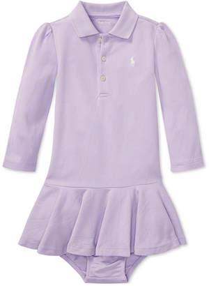 Polo Ralph Lauren Ralph Lauren Baby Girls Long-Sleeve Cotton Polo Dress