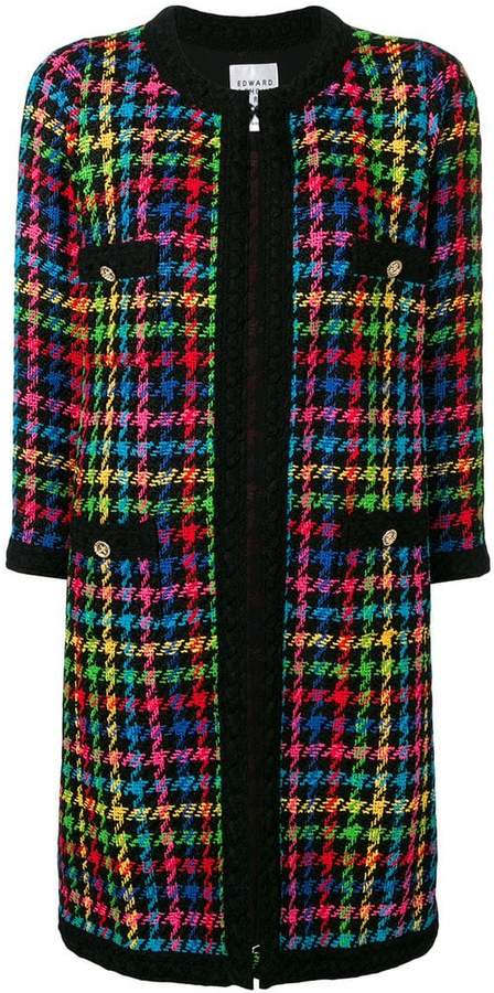 Paris houndstooth single-breasted coat