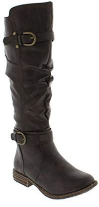 Shoes of Soul Womens L3762-10 Double-Buckle Boot