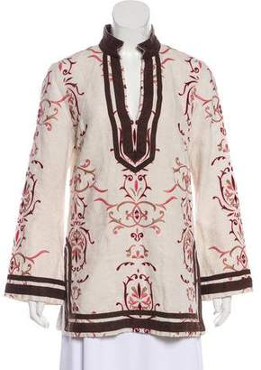 Tory Burch Linen Embroidered Tunic