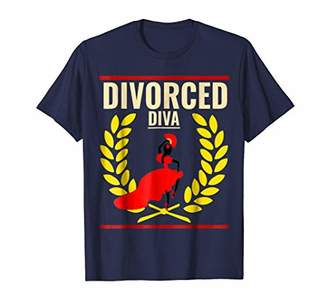 Abercrombie & Fitch Funny Divorce Shirts Divorced DIVA Shirt